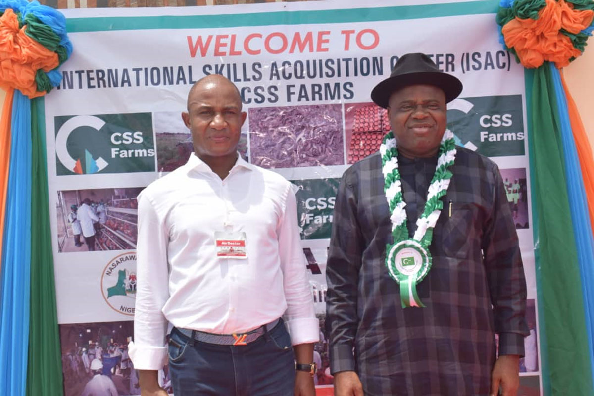 CSS GROUP CHAIRMAN DR. JOHN KENNEDY OPARA, WELCOMES HIS EXCELLENCY THE GOVERNOR OF BAYELSA STATE, SENATOR DUOYE DIRI, AND THE INDIAN HIGH COMMISSIONER SHRI ABHAY THAKUR TO THE INTERNATIONAL SKILL ACQUISITION CENTRE (ISAC) @ CSS FARMS.