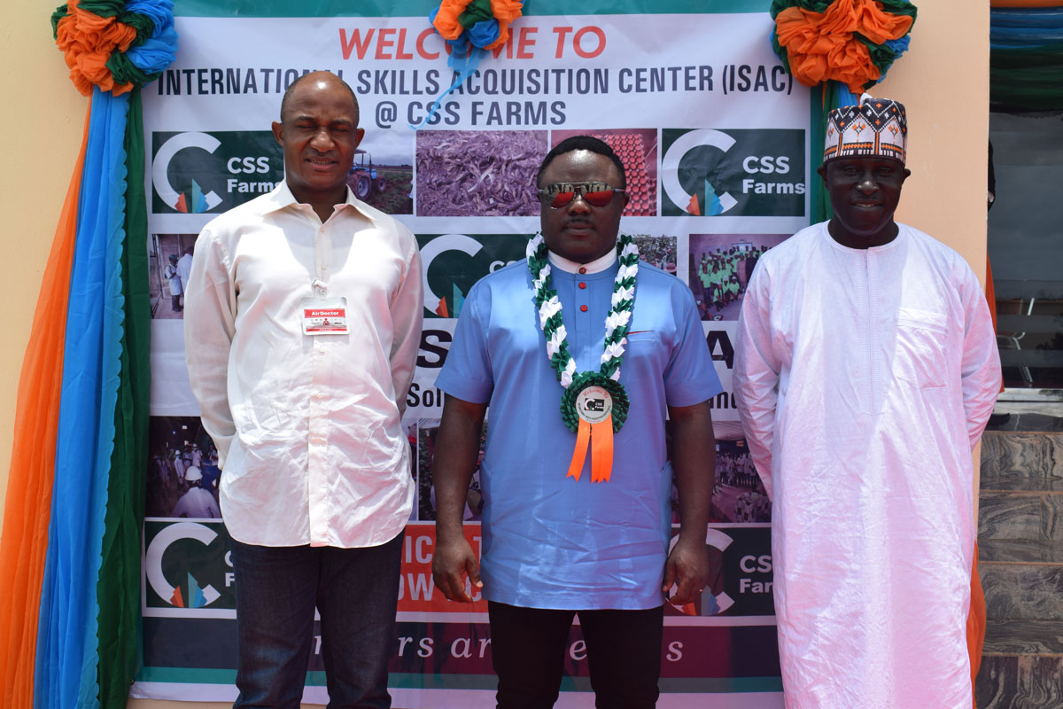 CSS GROUP CHAIRMAN HOSTS GOVERNOR BEN AYADE OF CROSS RIVER STATE AT THE INTERNATIONAL SKILLS ACQUISITION CENTRE (ISAC)